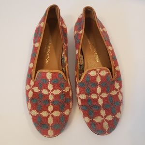 Stubbs & Wootton   patterned loafers size 8